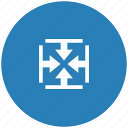 blue, height, inside, round, size, width icon