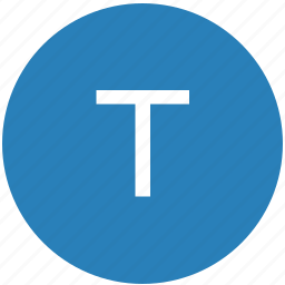 keyboard, latin, letter, round, t, text, uppercase icon