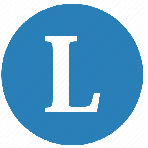 keyboard, l, latin, letter, round, uppercase icon