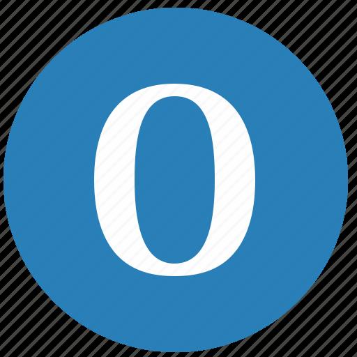 keyboard, latin, letter, o, round, uppercase icon