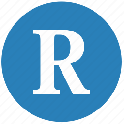 keyboard, latin, letter, r, round, uppercase icon