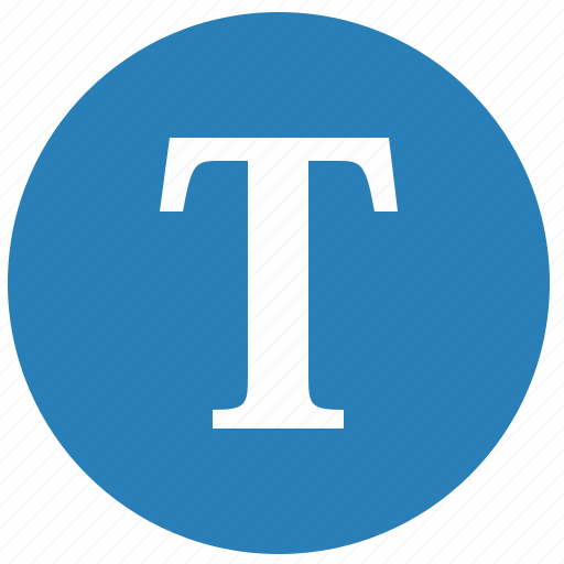 keyboard, latin, letter, round, t, uppercase icon