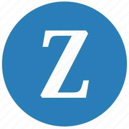 keyboard, latin, letter, round, uppercase, z icon
