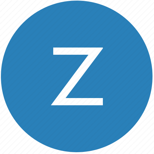 keyboard, latin, letter, round, text, uppercase, z icon