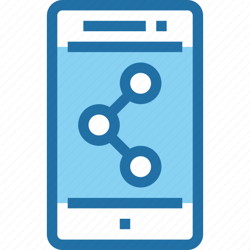 connect, mobile, network, smartphone, social media, technology icon