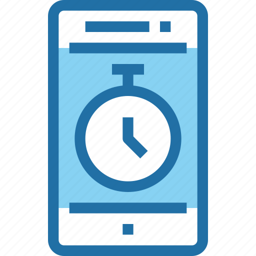 management, mobile, smartphone, technology, time, timer icon