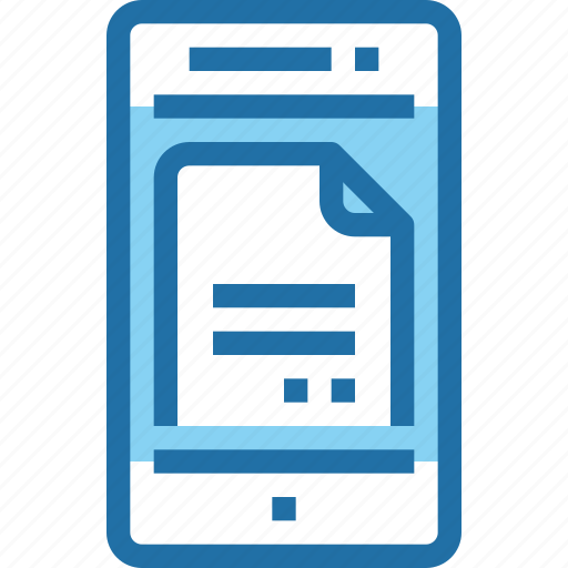 document, file, mobile, smartphone, technology icon