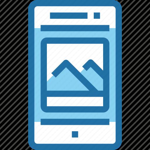 media, mobile, photo, smartphone, technology icon