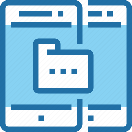 data, database, folder, mobile, smartphone, technology icon