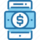 bank, banking, mobile, payment, smartphone, technology icon