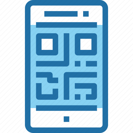code, mobile, payment, qr, smartphone, technology icon
