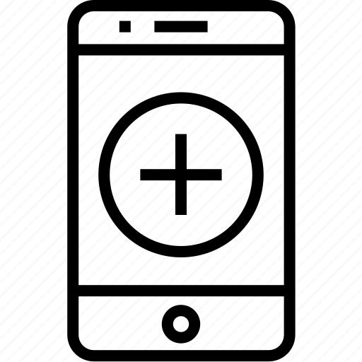 add, cell, device, iphone, mobile, mobilephone, phone, smartphone, telephone icon