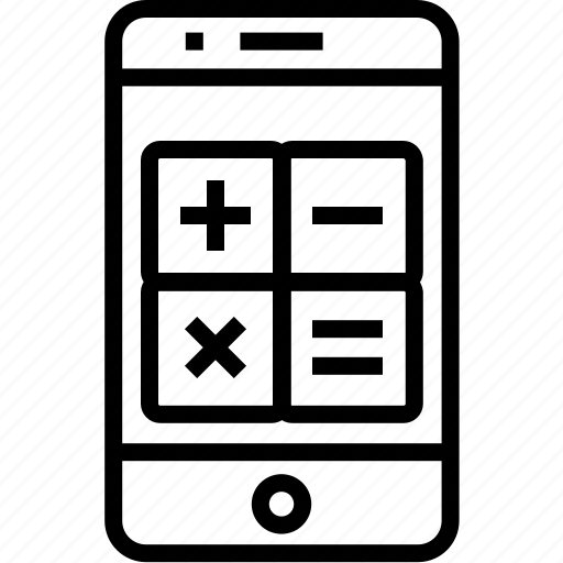 calculator, cell, device, iphone, mobile, mobilephone, phone, smartphone, telephone icon