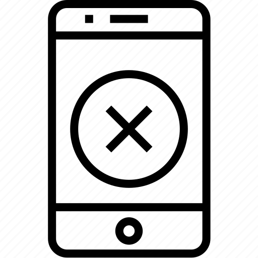 cell, device, iphone, mobile, mobilephone, phone, remove, smartphone, telephone icon