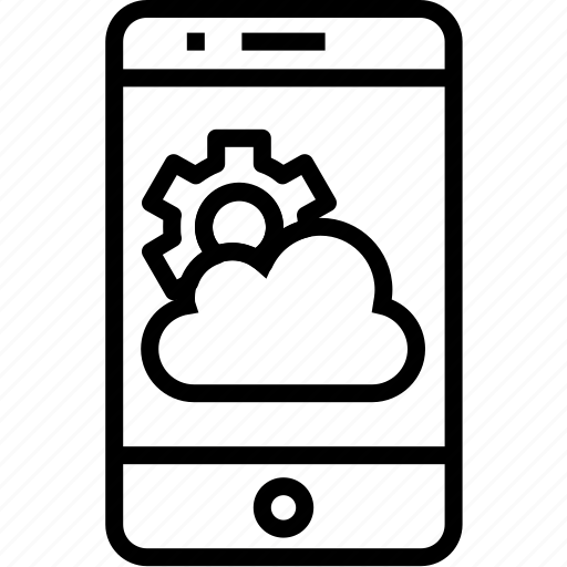cloud, device, iphone, mobile, mobilephone, phone, setting, smartphone, telephone icon