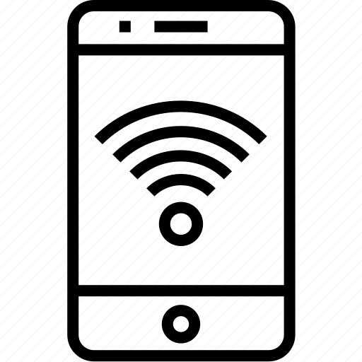 cell, connect, device, iphone, mobile, mobilephone, phone, smartphone, telephone, wifi icon