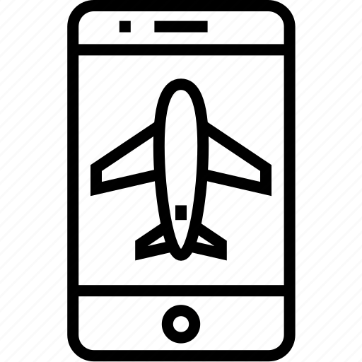 cell, device, iphone, launch, mobile, mobilephone, phone, plane, smartphone, telephone icon