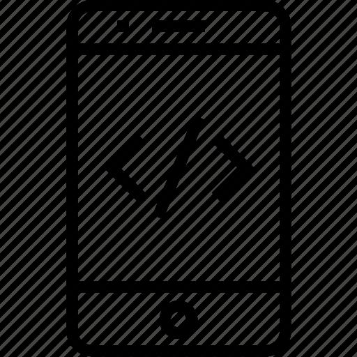 code, development, device, iphone, mobile, mobilephone, phone, smartphone, telephone icon