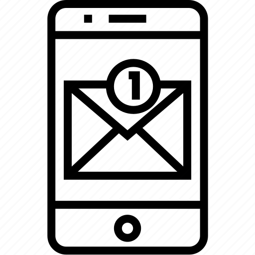 device, iphone, mail, mail check, mobile, mobilephone, notification, phone, smartphone, telephone icon