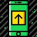 communication, function, mobile, upload icon