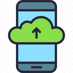 app, cloud, drive, mobile, phone, storage, upload icon