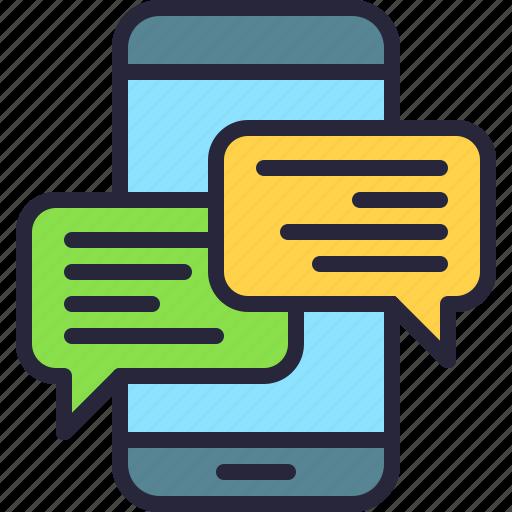 app, communication, conversation, message, mobile, text, texting icon