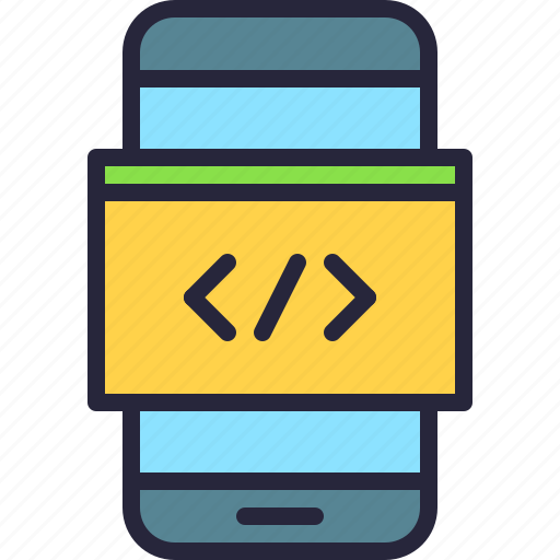 app, code, coding, css, html, javascript, mobile icon