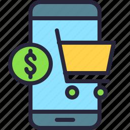 app, cart, mobile, money, shop, shopping, store icon