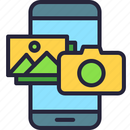 app, camera, gallery, image, mobile, phone, photo icon