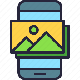app, gallery, image, jpeg, mobile, phone, picture icon