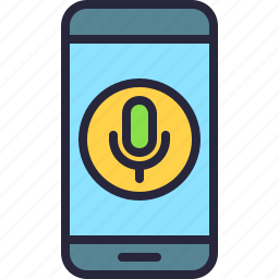 app, microphone, mobile, phone, record, voice icon