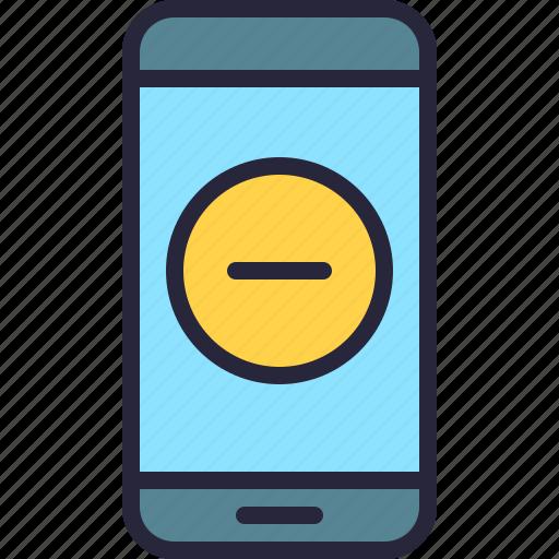 app, delete, minus, mobile, phone, remove icon