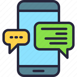 app, conversation, message, mobile, text, texting, writing icon