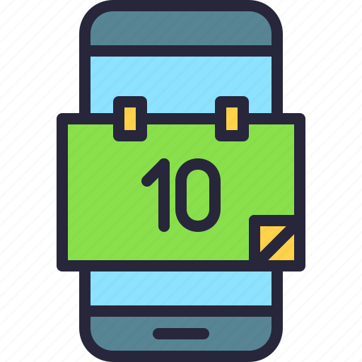 agenda, app, calendar, date, mobile, phone icon
