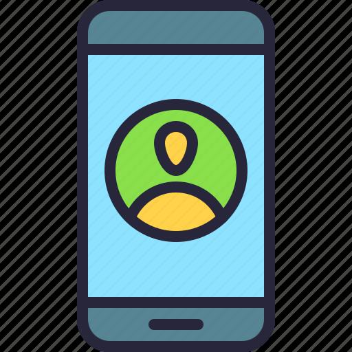 app, mobile, phone, profile, user icon