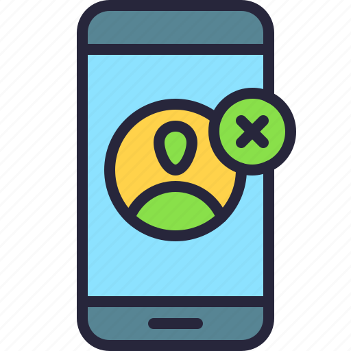 app, delete, mobile, phone, profile, remove, user icon