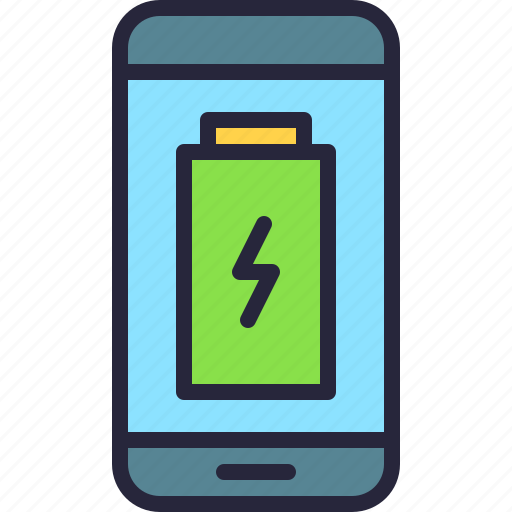 app, battery, energy, full, low, mobile, phone icon