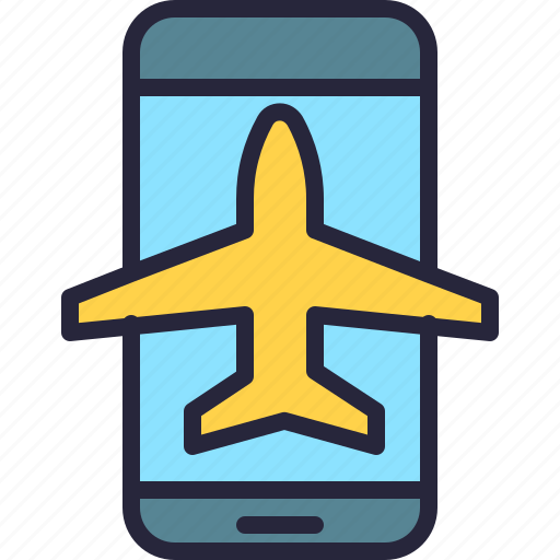 airplane, app, flight, fly, mobile, mode, phone icon