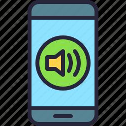 app, mobile, music, phone, sound, volume icon