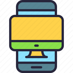 app, computer, mac, mobile, phone, responsive, screen icon