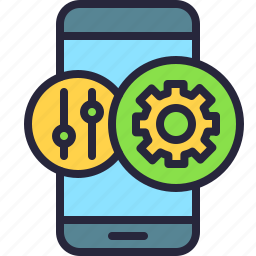 adjustments, app, configuration, controller, mobile, options, phone icon