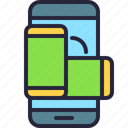 app, mobile, orientation, phone, rotate, rotation, screen icon