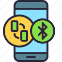 mobile, transfer, app, bluetooth, phone, file icon