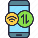 app, data, internet, mobile, phone, wifi, wireless icon