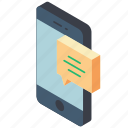 function, functions, iso, isometric, message, mobile, smart phone icon