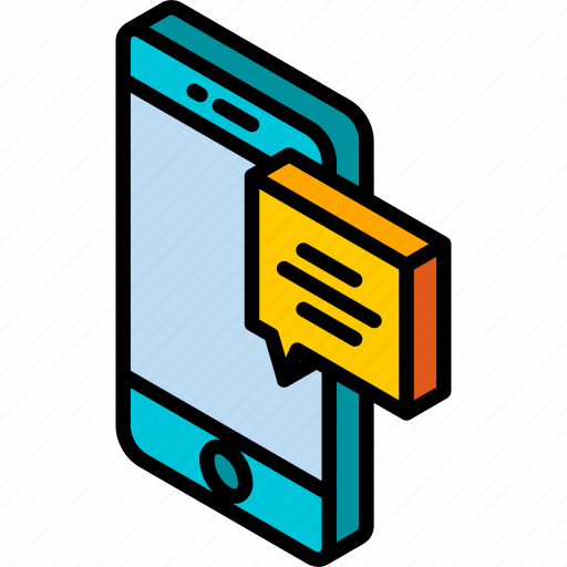 device, function, iso, isometric, message, smartphone icon
