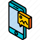 device, function, graphic, image, iso, isometric, smartphone icon