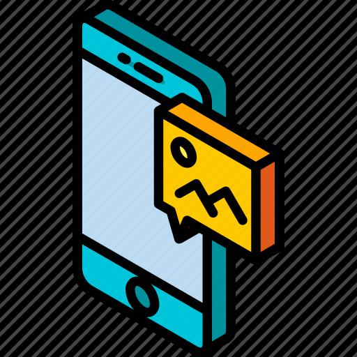 device, function, graphic, image, iso, isometric, smartphone icon
