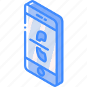 device, function, hold, iso, isometric, smartphone icon