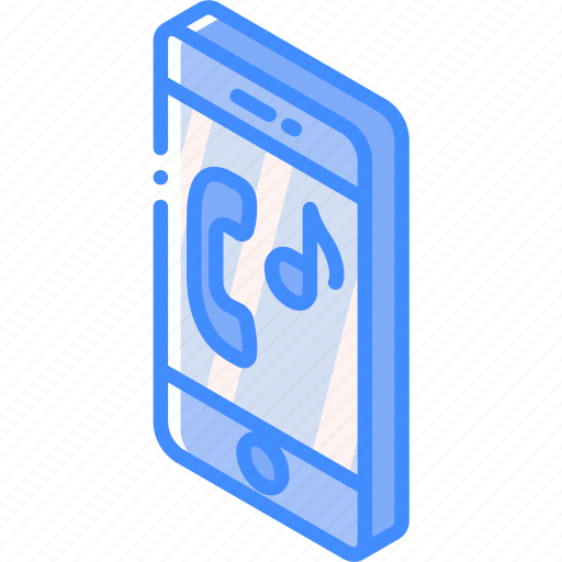 device, function, iso, isometric, smartphone, sounds icon
